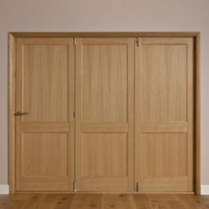 View Keilder 2 Panel Oak Veneer Internal Folding Folding Door RH, (H)2035mm (W)2374mm details