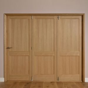 View Keilder 2 Panel Oak Veneer Internal Folding Folding Door LH, (H)2035mm (W)2146mm details