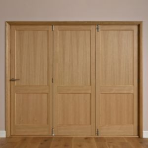 View Keilder 2 Panel Oak Veneer Internal Folding Door RH, (H)2035mm (W)2146mm details