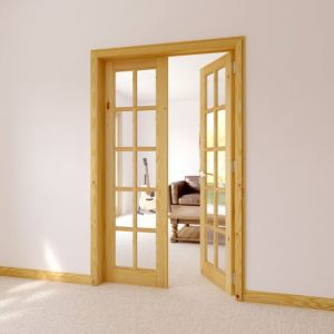 Image of 10 Lite Clear Internal French Door (H)2030mm (W)760mm
