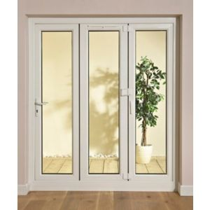 View White PVCu Glazed Folding Patio Door & Frame, (H)2009mm (W)1790mm details