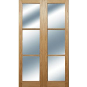 View Eden 3 Lite Clear Glazed Moulded Internal French Door Panel French Door Panel, (H)1981mm (W)579mm details