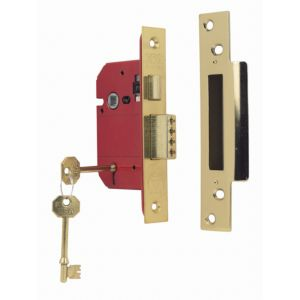 View Era 64mm Brass Effect 5 Lever Sash Lock details