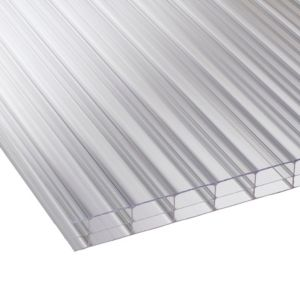 Image of Clear Multiwall Polycarbonate Roofing Sheet 3M x 700mm Pack of 5