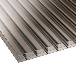 Image of Bronze Mutilwall Polycarbonate Roofing Sheet 4000mm x 700mm Pack of 5
