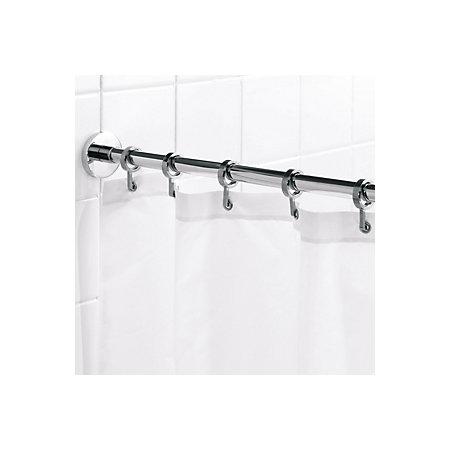 Croydex Chrome Effect Shower Curtain Rod (L)2.5m | Departments ...