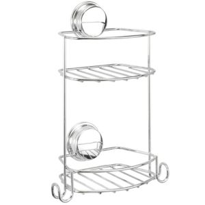 View Croydex Twist 'N' Lock Plus Chrome Effect Steel Compact Storage Basket details
