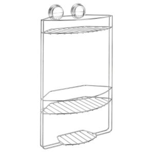 View Croydex Twist 'N' Lock Plus Chrome Effect Steel Three Tier Storage Basket details