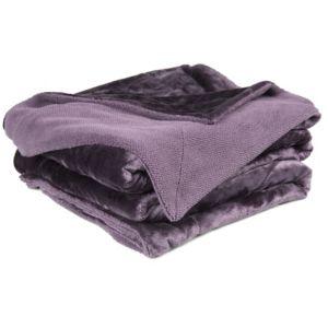 Chartwell Luxury Purple Plain High Sheen Velvet Throw