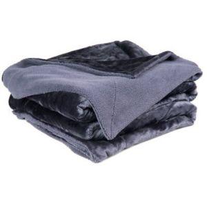 Chartwell Luxury Blue Plain High Sheen Velvet Throw