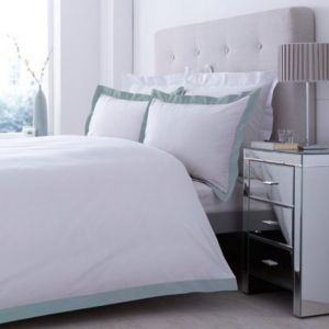 View Lexington Duck Egg & White Kingsize Bed Cover Set details