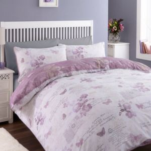 View Chartwell Lilian Wisteria Butterfly Double Bed Cover Set details