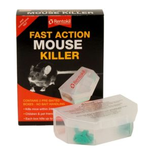 Rentokil Fast Action Poisonous Bait Trap Mouse Control 131.8G
