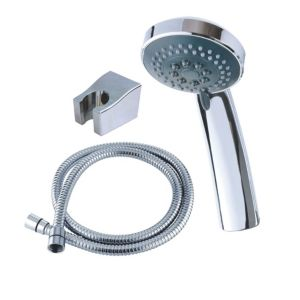 Triton Chrome Effect Shower Head  Hose & Shower Head Holder