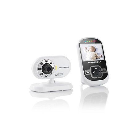 motorola white black video baby monitor mbp26 departments diy at b. Black Bedroom Furniture Sets. Home Design Ideas