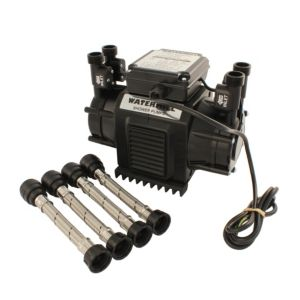 View Watermill Black & Burgundy Regenerative Shower Pump (H)265mm (W)220mm (L)340mm details