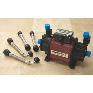 View Watermill Black & Burgundy Centrifugal Shower Pump (H)190mm (W)220mm (L)340mm details