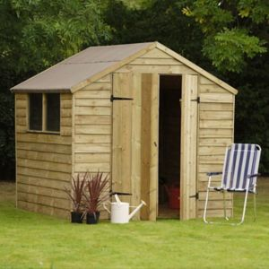 View Larchlap 7X7 Apex Overlap Wooden Shed - Assembly Required details