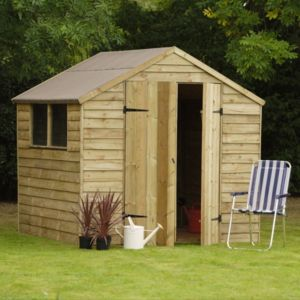 View Larchlap 7X7 Apex Overlap Wooden Shed with Assembly Service details