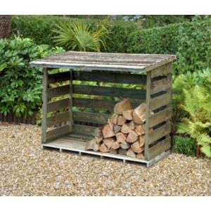Image of 4X3 Pent Wooden Log Store