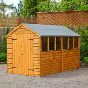 View Larchlap 10X8 Apex Overlap Wooden Shed details