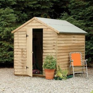 View Larchlap 8X6 Apex Overlap Wooden Shed details