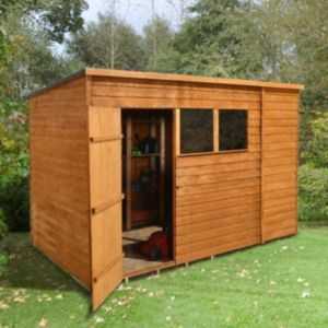 View Larchlap 10X6 Pent Overlap Wooden Shed - Assembly Required details