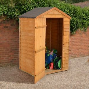 View Larchlap 4X3 Apex Overlap Wooden Shed - with Assembly Service details