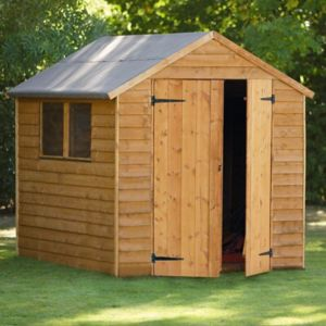 View Larchlap 8X6 Apex Overlap Wooden Shed - with Assembly Service details