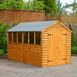 View Larchlap 10X8 Apex Overlap Wooden Shed - with Assembly Service details