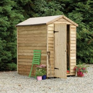View Larchlap 6X4 Apex Overlap Wooden Shed - Assembly Required details