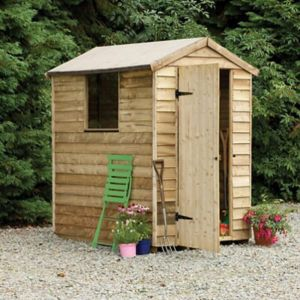 View Larchlap 6X4 Apex Overlap Wooden Shed with Assembly Service details