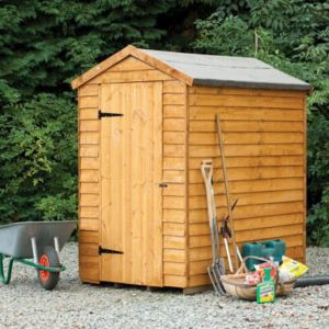 View Larchlap 6X4 Apex Overlap Wooden Shed Base Included with Assembly Service details