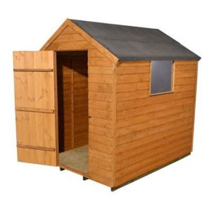 View Larchlap 7X5 Apex Overlap Wooden Shed - Assembly Required details