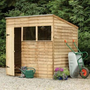 View Larchlap 7X5 Pent Overlap Wooden Shed Base Included details