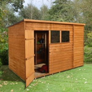 View Larchlap 10X6 Pent Overlap Wooden Shed - with Assembly Service details