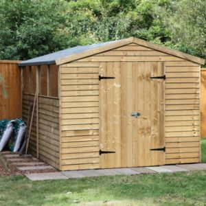 View Larchlap 10X8 Apex Overlap Wooden Shed - Assembly Required details