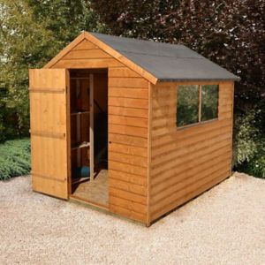 View Larchlap 8X6 Apex Overlap Wooden Shed Base Included with Assembly Service details