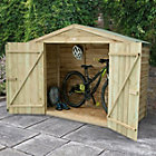 Outdoor Small Storage Overlap Pressure Treated Reverse Apex Wood Timber Bike Store 6'10'' x 2'8'' Approx