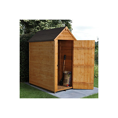 5x3 apex overlap wooden shed departments diy at b q for Garden shed 5x3