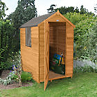 6X4 Apex Overlap Wooden Shed Best Price, Cheapest Prices