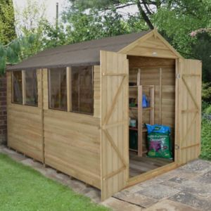 Image of 10x8 Forest Apex roof Overlap Wooden Shed