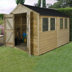 Image of 10x8 Forest Apex Tongue & groove Wooden Shed