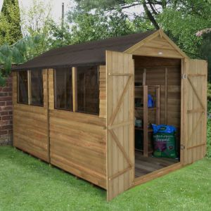 Image of 10x8 Forest Apex Overlap Wooden Shed