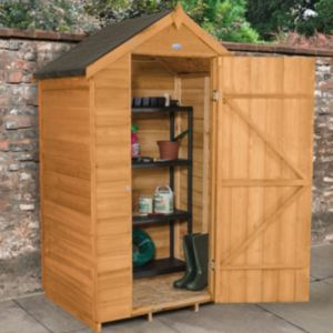 Image of 4X3 Apex Overlap Wooden Shed with Assembly Service