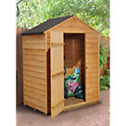 5X3 Apex Overlap Wooden Shed with Assembly Service