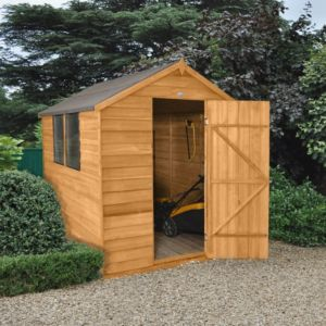 8X6 Apex Overlap Wooden Shed with Assembly Service Base Included