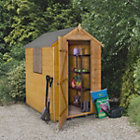 6X4 Apex Shiplap Wooden Shed with Assembly Service Base Included