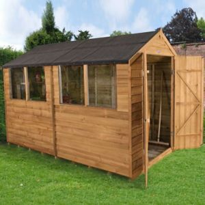 Image of 10x6 Forest Apex Overlap Wooden Shed