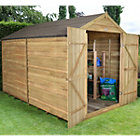 10X8 Forest Apex Overlap Wooden Shed